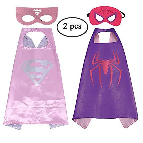 Cartoon Superheros Dress Up Costume Satin Capes with
