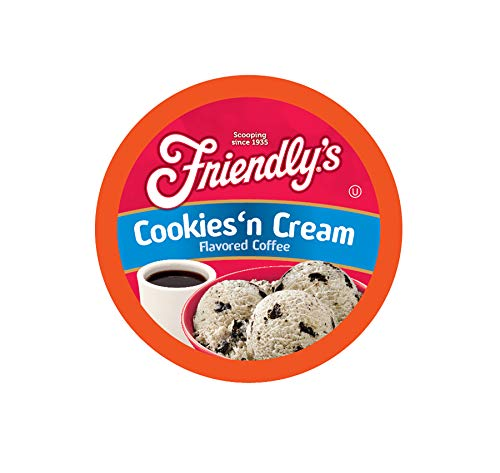 Friendly's Cookies & Cream Flavored Coffee for Keurig K Cup Brewers 40Count (Best Cookies And Cream Ice Cream Brand)