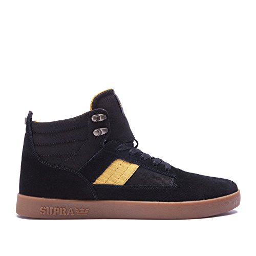 Supra Men's Bandit Black/Amber Gold/Gum Athletic Shoe