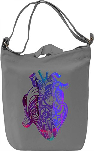 Mechanical Heart Borsa Giornaliera Canvas Canvas Day Bag| 100% Premium Cotton Canvas| DTG Printing|