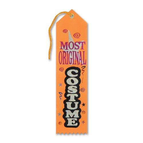 Beistle HAR521 Most Original Costume Award Ribbon, 2