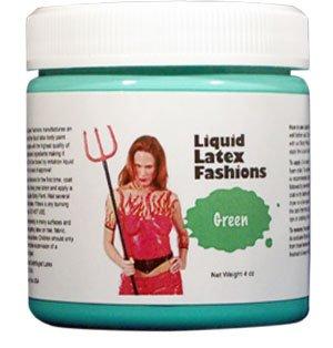 Ammonia Free Liquid Latex Body Paint 8oz Green
