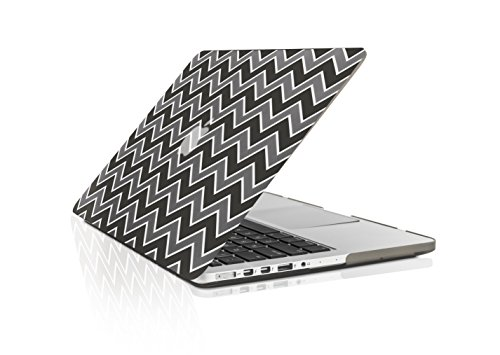 TopCase Chevron Series Gray Insert Black Ultra Slim Light...