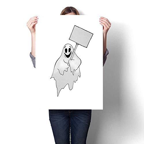 cordiall Sofa Background Wall Halloween Ghost with Transparency Hand Drawn Watercolor Illustration Isolated on White Background Home and Everything L36 xK32