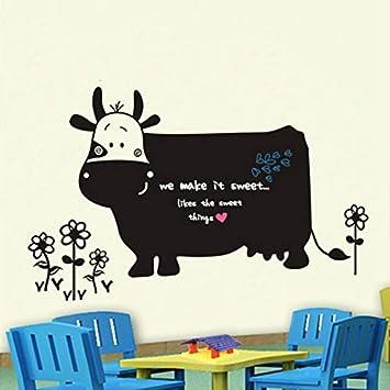 Pegatinas de pared Leche Vaca Tablero de Tiza Pegatinas de ...