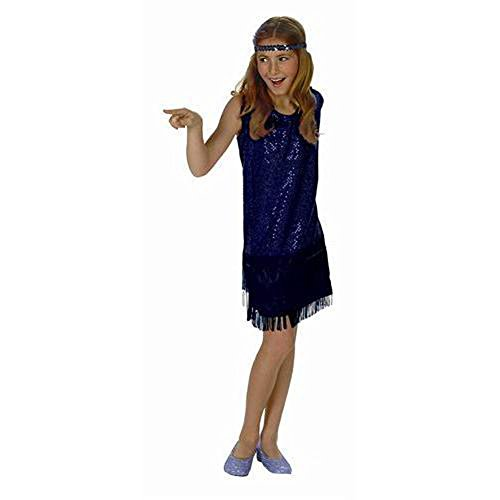 Sequin Flapper,Blue,Small 4-6 ()