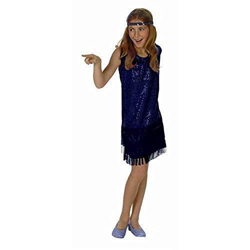 Sequin Flapper,Blue,Medium 8-10 - Cabaret Girl Costume