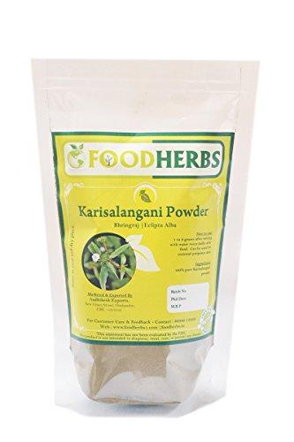 Foodherbs Bhringraj/Karisalangani/Eclipta Alba Powder (200 Gm/0.44 Lbs) for hair follicle strength, control of hairfall, promotes hair growth