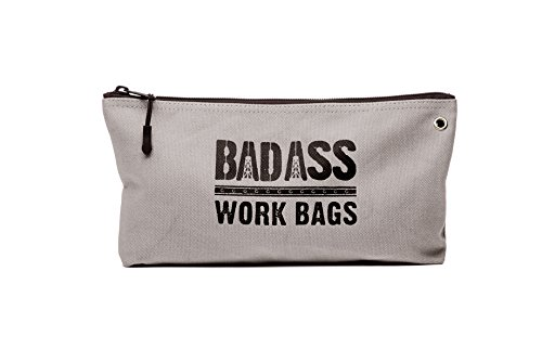 Bad Ass Work Gear | 4-Pack of Heavy Duty 20 oz. Canvas Zipper Tool Bags in 4 colors | Toughest Utility Bag by Bad Ass Work Gear (Image #3)