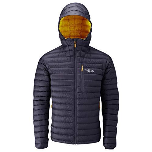 Mens Microlight Jacket - RAB Men's Microlight Alpine Jacket - Steel/Dijon - Small