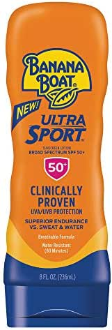 Banana Boat Ultra Sport Sunscreen Lotion, New Formula, SPF 50+, 8 Ounces