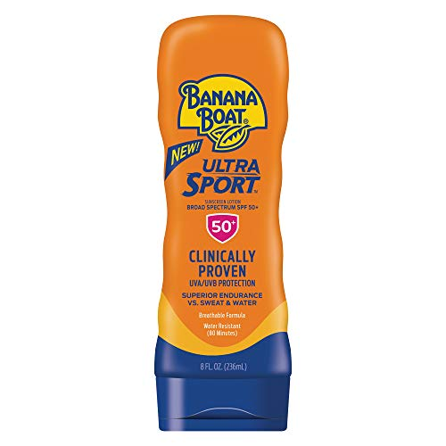 (Banana Boat Ultra Sport Sunscreen Lotion, New Formula, SPF 50+, 8 Ounces)