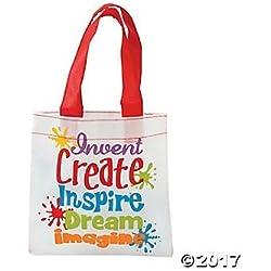 Mini Little Artist Tote Bags - 12 ct