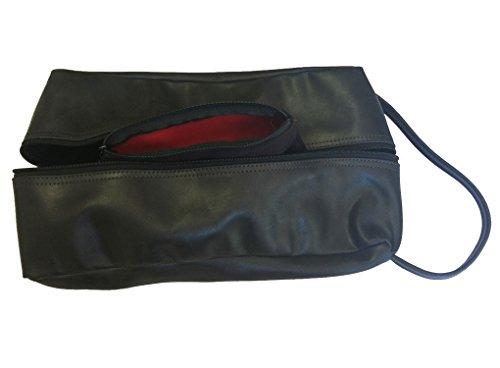 TPK Full Grain Leather Premium Shoe Bag (Ebony Black) by TPK (Image #2)