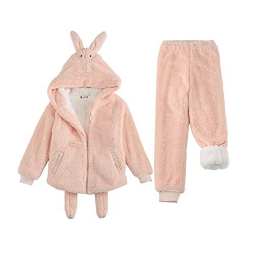 Franela Cálido Pink Grueso Metro Pink Terciopelo Tamaño Invierno Pijama Mujer Dibujos Dulce Nuevo Doble Llevar Animados Coral Huifei Hogar De Orange Lindo color Para vpZxqR
