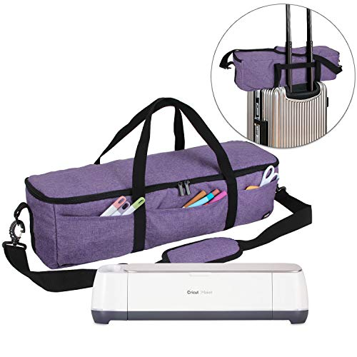 Luxja Foldable Bag Compatible with Cricut Explore Air and Maker, Carrying Bag Compatible with Cricut Explore Air and Supplies (Bag Only), Purple by LUXJA (Image #9)