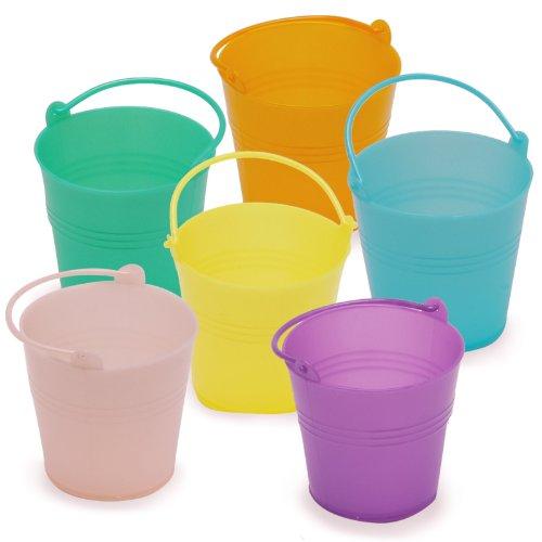 Mini Pastel Plastic Easter Pails (6) Party Supplies