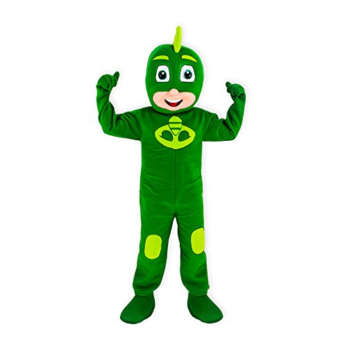 KF Green PJ Mask Mascot Costume Gekko Party Adult Halloween Cosplay Greg Character]()
