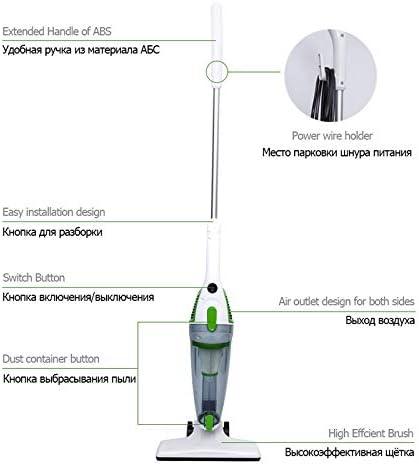 LQPOUXCQ aspirateur balai Quiet Mini Accueil Rod Aspirateur Portable Collecteur De Poussière Accueil Aspirateur À Main Aspirateur