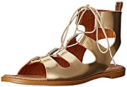 Chinese Laundry Women's Guess Who Dazzle Gladiator Sandal, Gold, 7 M US