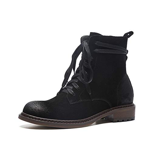 pour Martin Talon Frosted Plat Courtes Femme Bottines Black à wOPHZ