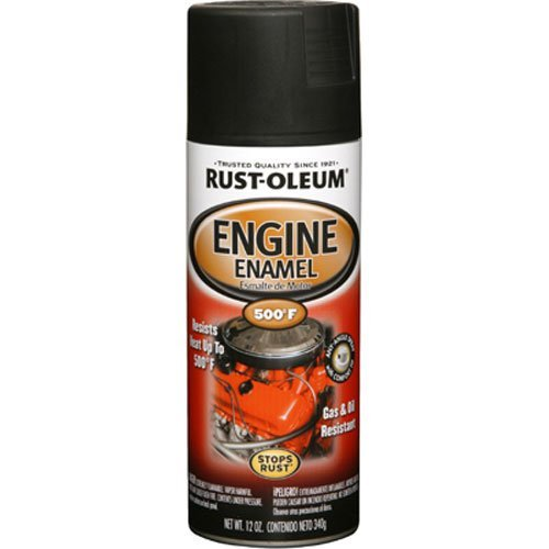 Rust-Oleum 248936 Automotive 12-Ounce 500 Degree Engine Enamel Spray Paint, Semi Gloss Black