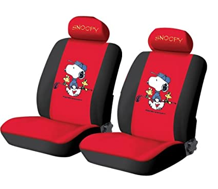 6pcs Snoopy Car Seat Cover Red