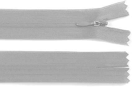 nicht teilbar 20 St/ück 16 cm langer Spiralrei/ßverschluss nahtverdeckt 3mm Laufschiene Rei/ßverschluss beige