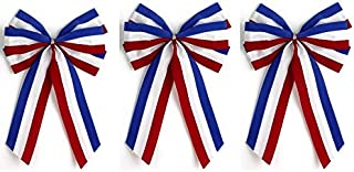 product image for Independence Bunting - 3-Pack! 6 Loop Red, White & Blue Patriotic Bows. American Made 4th of July Holiday Ribbon Bow are Good for Inside and Outdoors.
