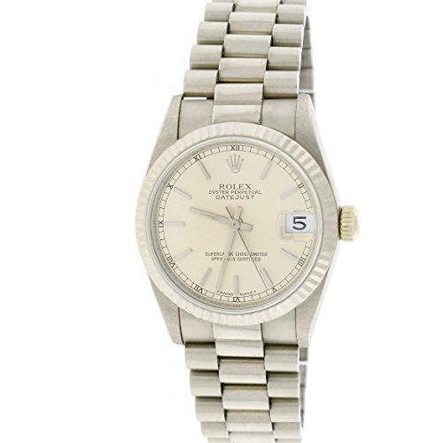 Rolex President Datejust Midsize 18K White Gold 31MM Automatic Watch (Ladies Rolex Datejust President Watch)