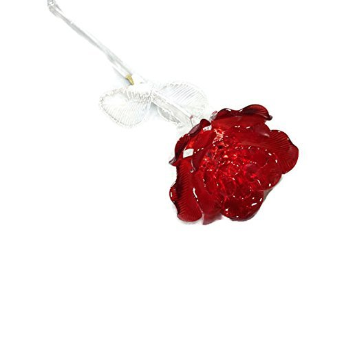 (Waterford Crystal Gifts Fleurology 14.5 Colored Sculpted Glass Red Rose. Packaged In A Waterford Presentation Gift Box by)