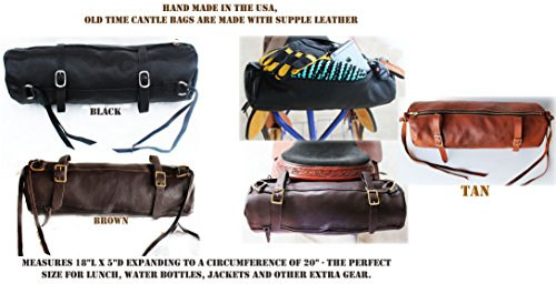 CHALLENGER Horse Leather Cantle Saddle Bag Trail Riding Western or Endurance Brown 10217DB