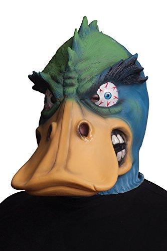 Morbid Enterprises Angry Duck Mask, Green/Yellow/Blue, One -