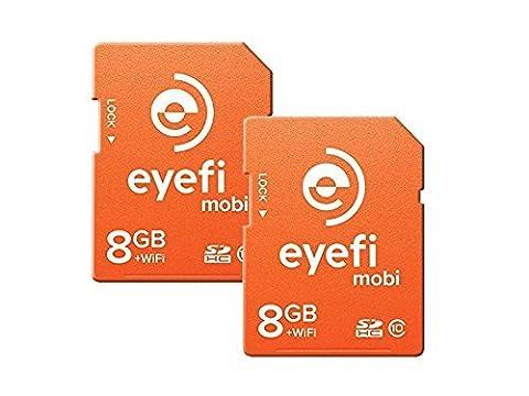 Eyefi mobi8FF2 Mobi 8GB 2 pack orange (Eye Fi 8gb Mobi)