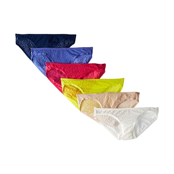 Fruit of the Loom Women's 6 Pack All Over Lace Bikini Panties