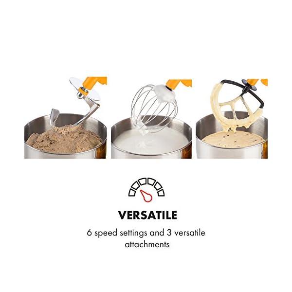 Klarstein Lucia Rossa - robot da cucina , mixer , impastatrice , 1200 W , 5 L , sistema planetario , tritacarne , ganci… 4