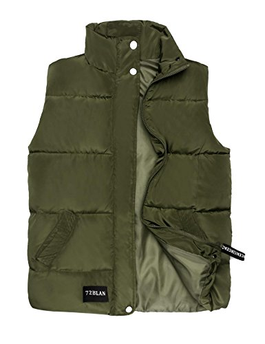 Hufcor Women Military Lightweight Down Vest Puffer Jacket High Neck Waistcoat Amy (Amy Insulated Jacket)