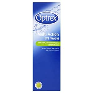 Optrex multiaction eye wash with eye bath x 300ml eye drops beauty - Optrex bagno oculare ...