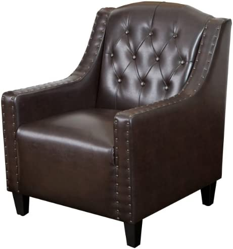 Christopher Knight Home Gabriel Tufted Leather Club Chair - the best living room chair for the money