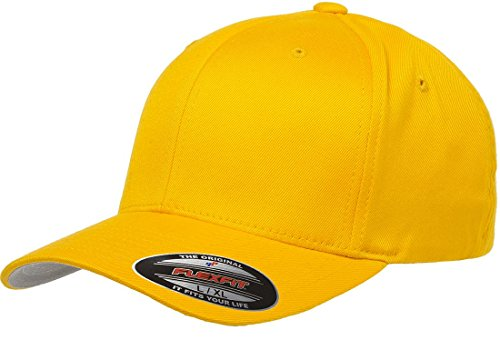 Flexfit 6277 Wooly Combed Twill Cap - Small/Medium (Gold)