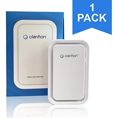 Clarifion - Negative Ion Generator with Highest Output (1 Pack) Filterless Mobile Ionizer & Travel Air Purifier, Plug in, Eliminates: Pollutants, Allergens, Germs, Smoke, Bacteria, Pet Dander & More
