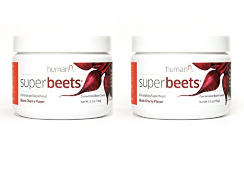 SuperBeets – Circulation Superfood – Premium Nitric Oxide Booster – Non-GMO Nitrate Rich Beet Root Powder – Black Cherry Flavor – 5 ounce 30 servings 2 Pack