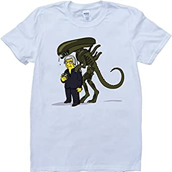 Alien covenant as simpsons mens custom made t shirt for Amazon custom t shirts
