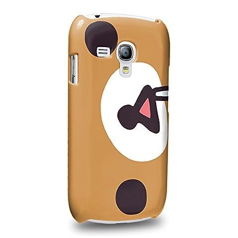 Case88 Premium Designs Rilakkuma Korilakuma Kiiroitori Kaoru Collection 1349 Protective Snap-on Hard Back Case Cover for Samsung Galaxy S3 mini (Not Normal S3 (Rilakkuma Phone Case Galaxy S3)