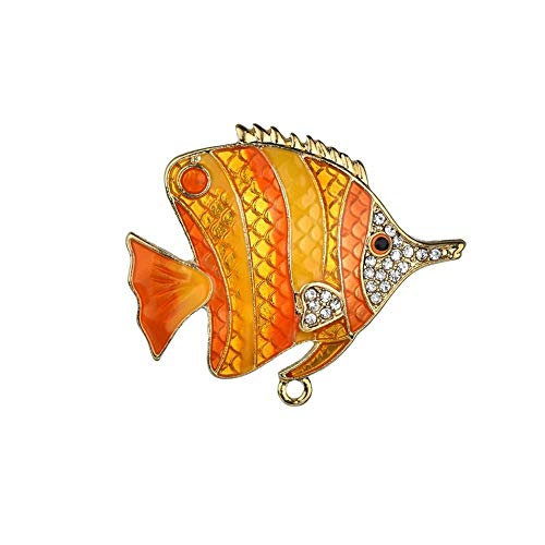 SKZKK Enamel Lapel Pin Diamond Tropical Fish Broaches and Pins for Women for Women Wedding Jewelry Women's Accessories for Women Alloy Plating Glaze