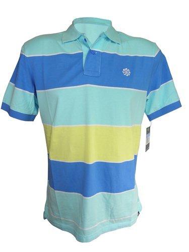 Nike Mens Grand Slam Bold Stripe Polo Sportswear T-Shirt Size XL Blue (Grand Slam Polo Shirt)