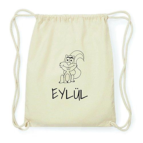 JOllipets EYLÜL Hipster Turnbeutel Tasche Rucksack aus Baumwolle Design: Eichhörnchen