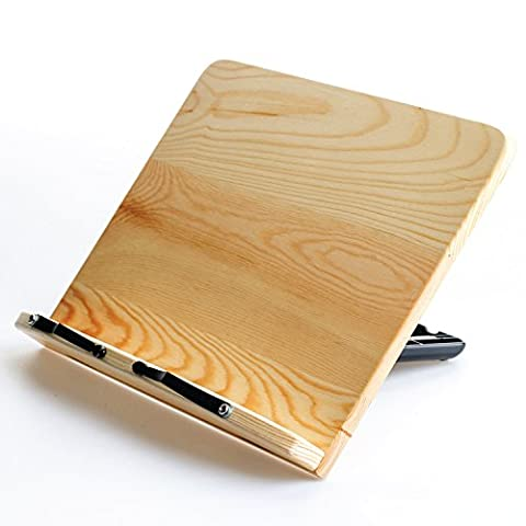 CAMINO 100% Purely Natural Wood | Eco friendly | Automatic Angle Adjustment in 12 steps book stand | holder | reading - Wd Wood Finishes