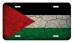 Palestine Flag Crackled Design License Plate