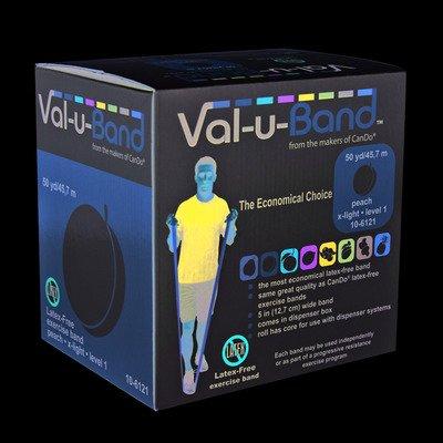Val-U-Band Latex Free Exercise Band, Peach by Val-u-Band